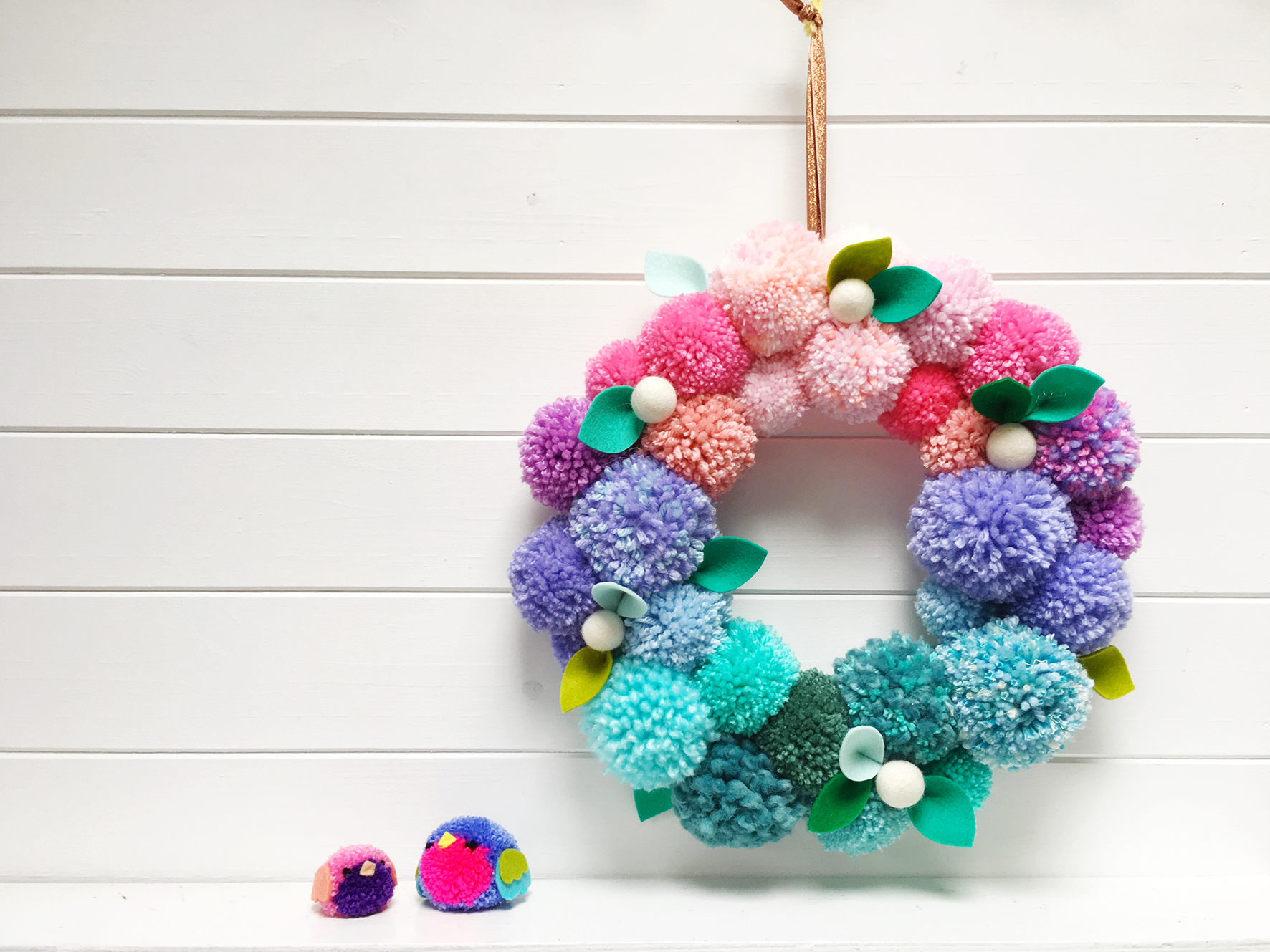 Christine Leech PomPom Wreath