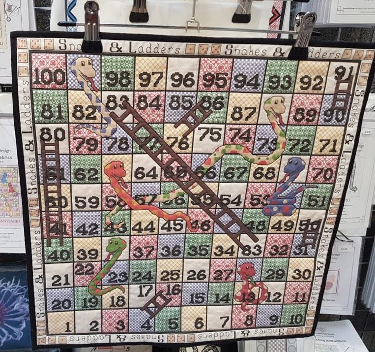 Quilt-your-own Snakes & Ladders Board
